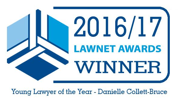 LawNet YLOY Award 2016/17 associated with Hart Brown, Surrey and London legal specialists