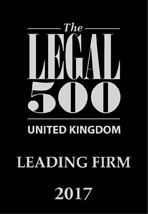 Legal 500 LF 2017 associated with Hart Brown, Surrey and London legal specialists